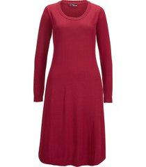 abito in maglia svasato (rosso) - bpc bonprix collection