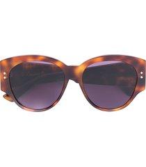 dior eyewear lady dior studs sunglasses - brown