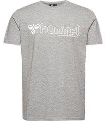 hmlmarcel t-shirt s/s t-shirts short-sleeved grå hummel