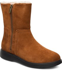 un elda mid shoes boots ankle boots ankle boots flat heel brun clarks