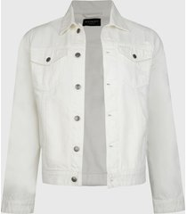 chaqueta d/struct western denim blanco - calce regular