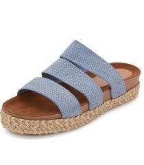 sandalia azul pastel croco  lorena herrera