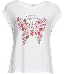 maglia con farfalla (bianco) - bodyflirt