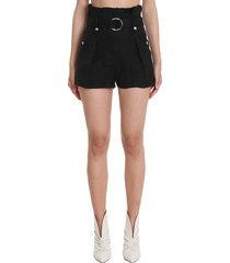iro buxy shorts in black viscose