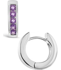 amethyst (3/4 ct. t.w.) huggie hoop earrings in sterling silver (also available in citrine or swiss blue topaz)