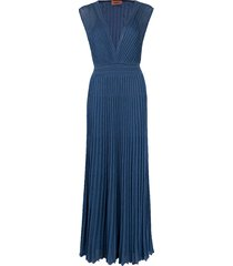 fitted lurex dress