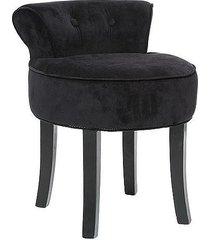 stołek fotel taboret welurowy sinaloa czarny