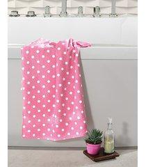 toalha de rosto dohler, prisma, fernanda, estampada - rosa