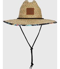 sombrero beige-negro-multicolor quiksilver outsider