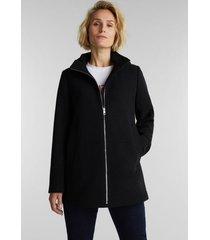 chaqueta mujer con capucha negro esprit