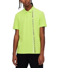 short sleeve neon vertical logo polo