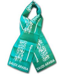 saudi arabia flag scarf