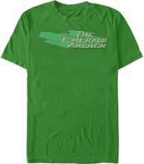 fifth sun dc men's the emerald archer text logo short sleeve t-shirt