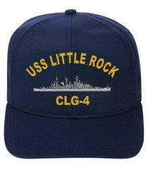 uss little rock clg-4 embroidered ship cap