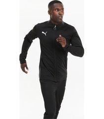 ftblplay trainingspak voor heren, grijs/zwart, maat l | puma