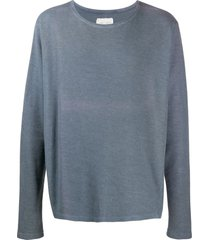 greg lauren long sleeve slouchy sweater - grey