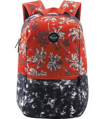 mochila de costas mormaii retro palm mrlm104201 vermelho