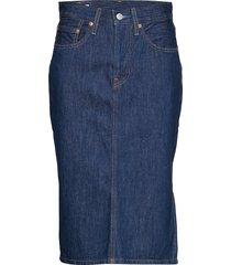 slide slit skirt juniper ridge knälång kjol blå levi´s women