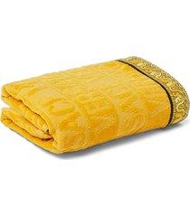 versace i heart baroque guest towel, size one size - metallic