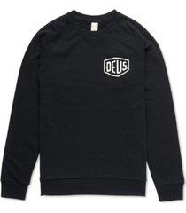 deus ex machine men's shield regular-fit french terry logo sweatshirt