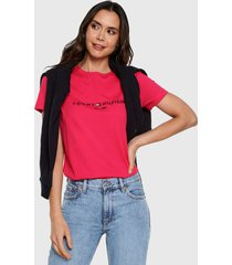 camiseta coral tommy hilfiger