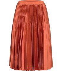 destinie skirt knälång kjol orange by malina