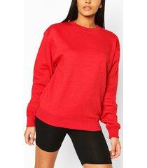 basic oversized sweatshirt, red