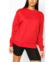 basic oversized sweatshirt, red