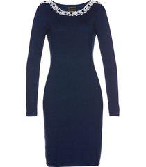 abito in maglia con perle premium (blu) - bpc selection premium