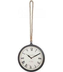 zegar ścienny na sznurze szary