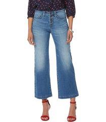 petite women's nydj teresa wide leg ankle jeans, size 14p - blue