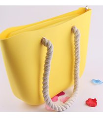 2017 new candy color women silicone shoulder bag travel tote beach purses silica