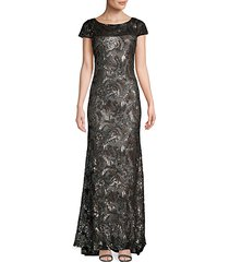 sequin-embellished column gown