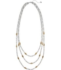 the sak three row necklace