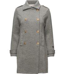 marina coat wollen jas lange jas grijs busnel
