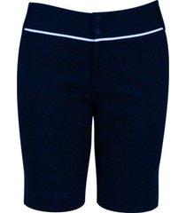 shorts pau a pique anarruga marinho - azul marinho - feminino - dafiti