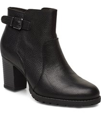 verona gleam shoes boots ankle boots ankle boots with heel svart clarks