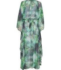 kaftan maxiklänning festklänning grön ilse jacobsen