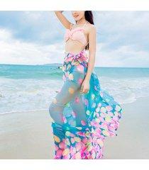 sciarpa e scialle di seta floreale della spiaggia di estate della protezione solare sexy calda delle donne