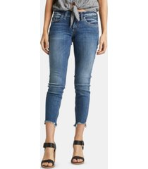 silver jeans co. step-hem boyfriend jeans