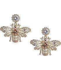 eye candy la women's luxe crystal bee dangle drop earrings
