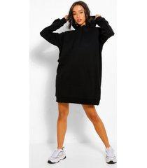 oversized sweater jurk met schouderpads, zwart