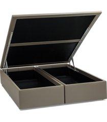 base cama box baú courino bege casal 138x188x39 ortobom