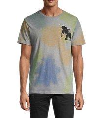 prps men's graphic cotton t-shirt - heather grey - size s
