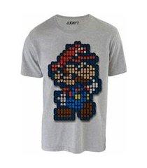 camiseta gola básica mário pixel