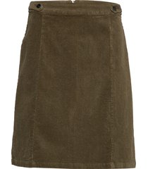 frhacorduroy 3 skirt kort kjol grön fransa