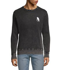 textured cotton sweatshirt