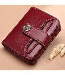 brenice vintage portafoglio in pelle vera con card slot portamonete