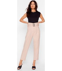 womens never belt love like this tapered pants - stone