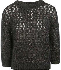brunello cucinelli mesh knit sweater